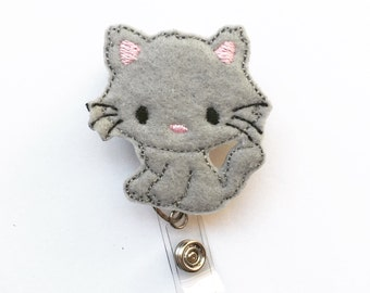 Kitty Interchangeable Badge Clip and Reel
