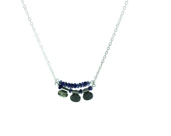 Iolite Petal Arch Necklace