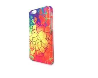 Funky iPhone Case Cover iPhone 5 5S SE 6 6S 6Plus 6S Plus 7 & 7 Plus Bright Rainbow Cool Disco Retro Colour Quirky pattern