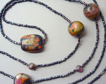 1920s Hand Painted Beads
