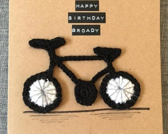 Crochet Bicycle Card