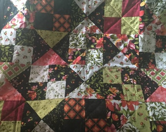 Floral Patchwork Quilt 53x62