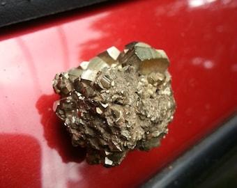 Refrigerator magnet - pyrite cluster