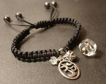 Black Braided Fillable Crystal Bracelet w/Charm Choice | Pet Cremation Jewelry | Pet Urn Bracelet | Keepsake Jewelry | Pet Urn Jewelry