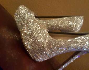 Bling Diamond Crystal Strass High Heel, Bridal shoes, Wedding heels, Special Occasion shoes