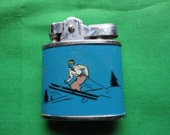 Vintage Lighter with Skiier