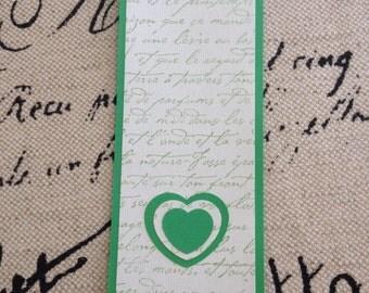 Green French Script Bookmark