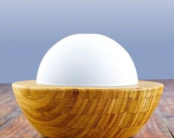 Premium Bamboo & Glass Ultrasonic Aromatherapy Multi-light Mist Diffuser