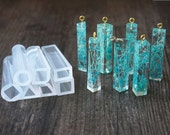 rubber silicone mold  for resin cube pendants making, triangle, long cube pendant making, resion pendant making, resin mold, silicon mold