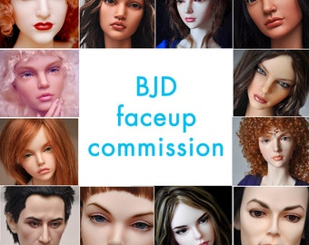 BJD faceup commission by MerryDoll