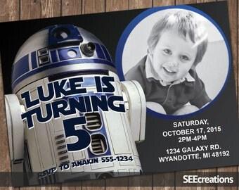 Star Wars R2-D2 Birthday Invitation