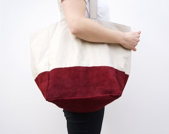 Large Tote Bag. Overnight Bag. Shopping Bag- Extra Large Tote