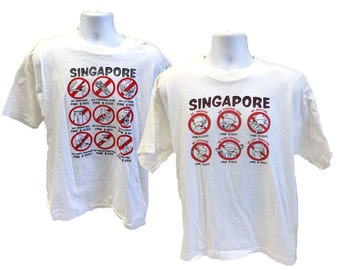 Vintage Singapore Fine T-Shirt, Medium (48)