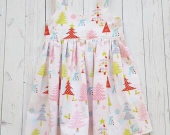 Ready to ship tea party dress-christmas-girls dress-holiday dress