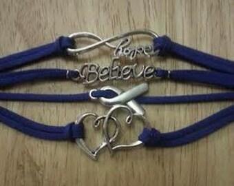 Colon Cancer Awareness Charm Bracelet