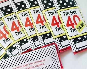 40th birthday favors, 40th birthday for women, 40th birthday invitations, 50th birthday favors, 30th birthday, 50 birthday, funny birthday