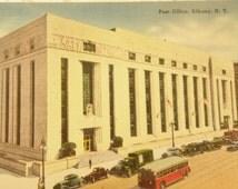 Post Office Albany NY Postcard Vintage 1940s