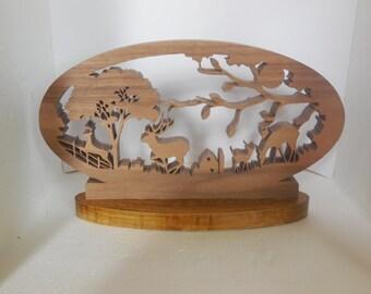 Deer family decor,baby deer decor, shelf decor,wildlife decor