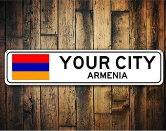 Armenia Flag Sign, Armenia Souvenir, Armenian Gift, Souvenir, Metal City Sign, City Souvenir, City Souvenir Sign - Quality Aluminum Sign