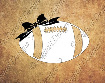 Football Bow SVG PNG Dxf Fcm Eps Cut file for Silhouette, Cricut, Scan N Cut, SCAL Printable Clipart
