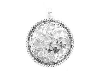 Pagan Sun Wheel Pendant VIKING KRISTALL silver