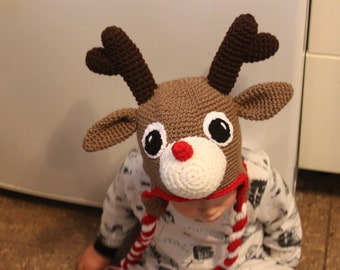 Handmade Rudolph Hat - Made to order