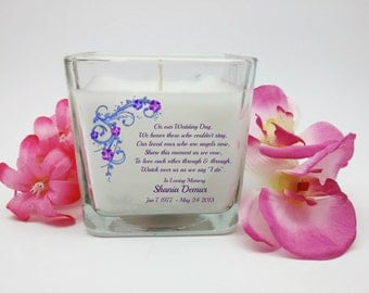 Wedding Memorial Candle, In Loving Memory, Memorial Candles, Angel Candle, Sympathy Candle, Wedding Sympathy Candle
