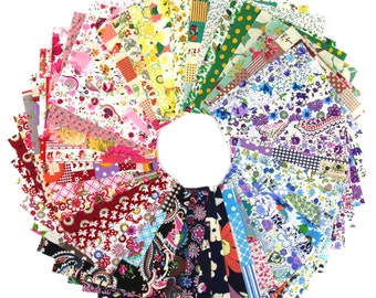 50pcs fabric cotton 100% printed boundle patchwork squares of 10*10cm for sewing scrapbooking (SKU:CTJZ21-FSCPO1010-50)