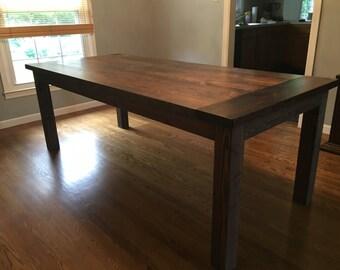 4 Leg Farmhouse Table - 4x4 legs - Post Legs - Indiana, Chicago, Ohio, New York