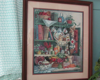 Farmeru0027s Market Framed Picture, Home Interiors Pictures,Vintage  Homco,Barbara Mock Art,