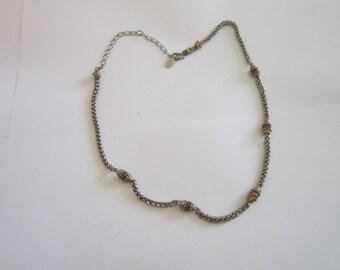 Designer L C Retro Fancy Chain Necklace