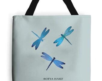 Dragonflies Print Tote