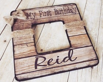 Personalized Picture Frame ~ First Birthday