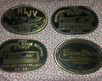 Brass Belt Buckle Lot of 4