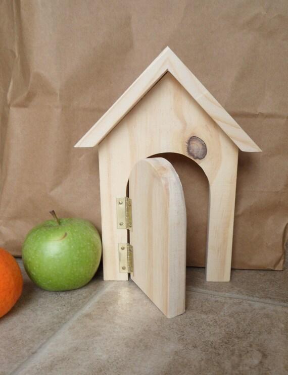 Wooden fairy elf door craft plain blank ready to decorate for Wooden elf door