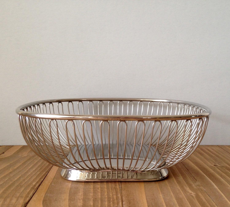 Mid century modern wire basket alessi by seventythreevintage - Alessi fruit basket ...