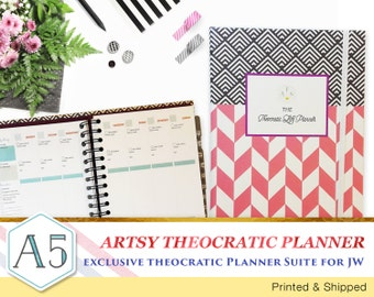 ARTSY Theocratic Planner Suite – Limited Edition 12 Months planning for JW - Printed and Shipped