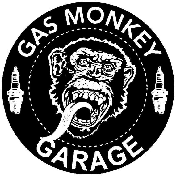 Gas Monkey Garage Decals: Gas Monkey Garage Vinyl Sticker Diecut 4 Stickers