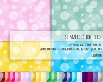 SALE! 21 Seamless bokeh backgrounds. Pastel bokeh wallpapers. Digital papers. Transparent bokeh. Seamless wallpaper, seamless background.