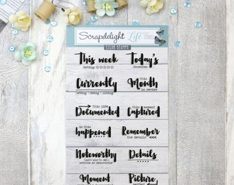 Scrapdelight Clear Stamps - Currently