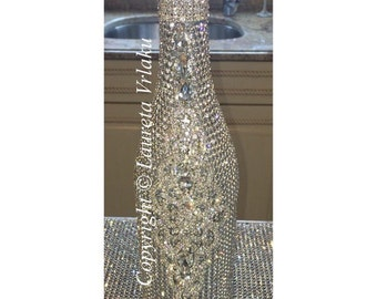 Crystallized champagne bottle