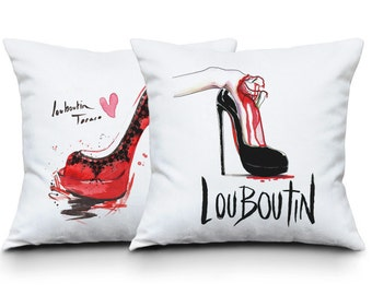 Red shoe pillow case