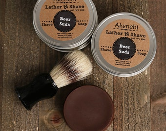 Natural Shave Soap | Wet Shave | Beer Soap | Beer Suds