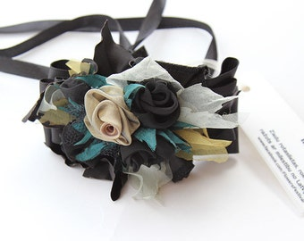 Bracelets for Women Black Rose Fabric Flowers Bracelets Wrist Corsage Chanel Bracelets Birthday Special Event Women Bracelets Prom Corsages