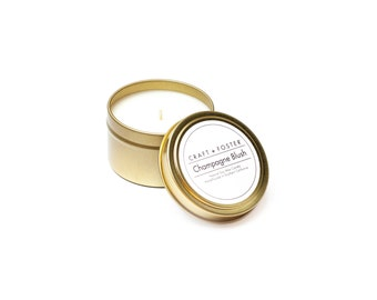 Champagne Blush Natural Soy Wax Candle - 6oz Tin