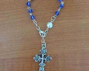 Sapphire (September  Birthstone) Bracelet Rosary