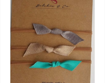 Simple knot bows