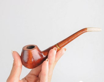 FREE shipping. Smoking pipe Wooden smoking pipe Wood pipe Carved smoking pipe