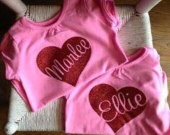 Personalized heart shirt