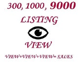 300,1000,9000 Listing Views! Let there will be more sales ! Promoted View, Promoted shop help, views etsy shop, Views listings